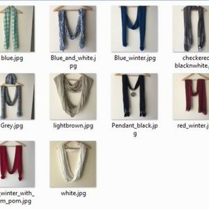 Accessories - Bundle Unused 10 Neck Scarfs